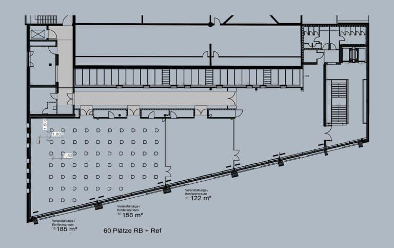 Raum 12 + 13 - Reihenbestuhlung